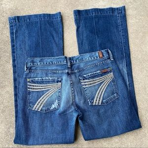 7 For All Mankind Grommet Detail Dojo Jeans 30